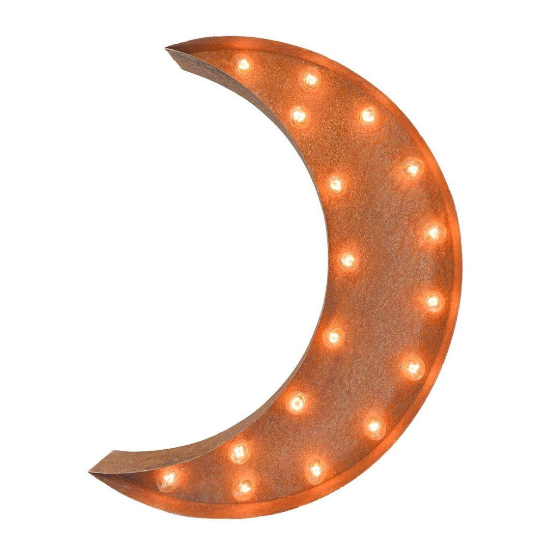 24  Crescent Moon Vintage Marquee Lights Sign  Rustic. 24  Crescent Moon Vintage Marquee Lights Sign  Rustic    Marquee