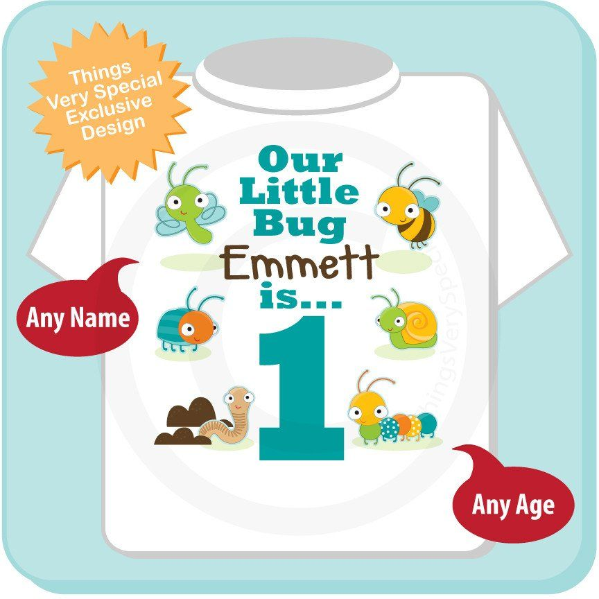 Boys one year old bug birthday shirt with name 1st birthday boys one year old bug birthday shirt with name 1st birthday shirt personalized bug birthday theme 06202014a negle Image collections