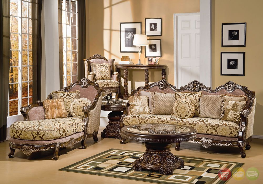 Formal Luxury Sofa Chaise Chair Traditional Piece Living Room