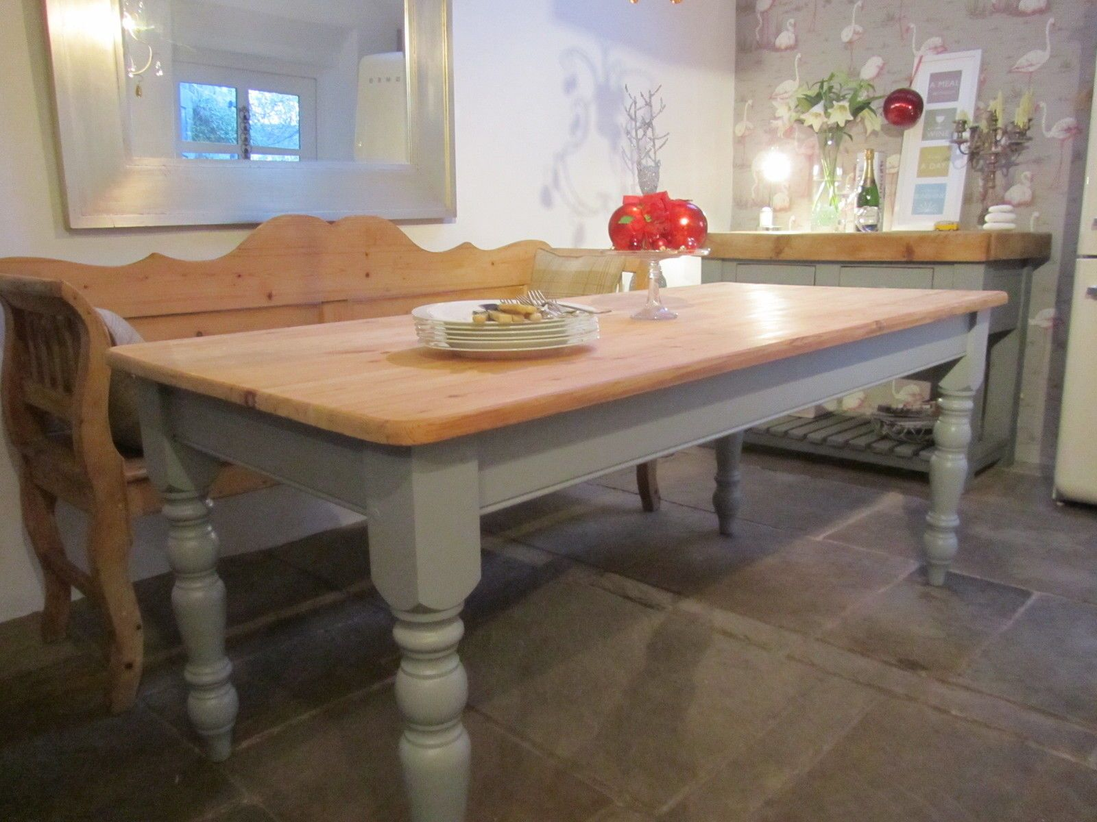 Beautiful quality solid pine farmhouse kitchendining