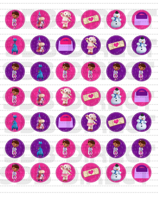 Cute Doc Mcstuffins Table Confetti Decorations Diy Print