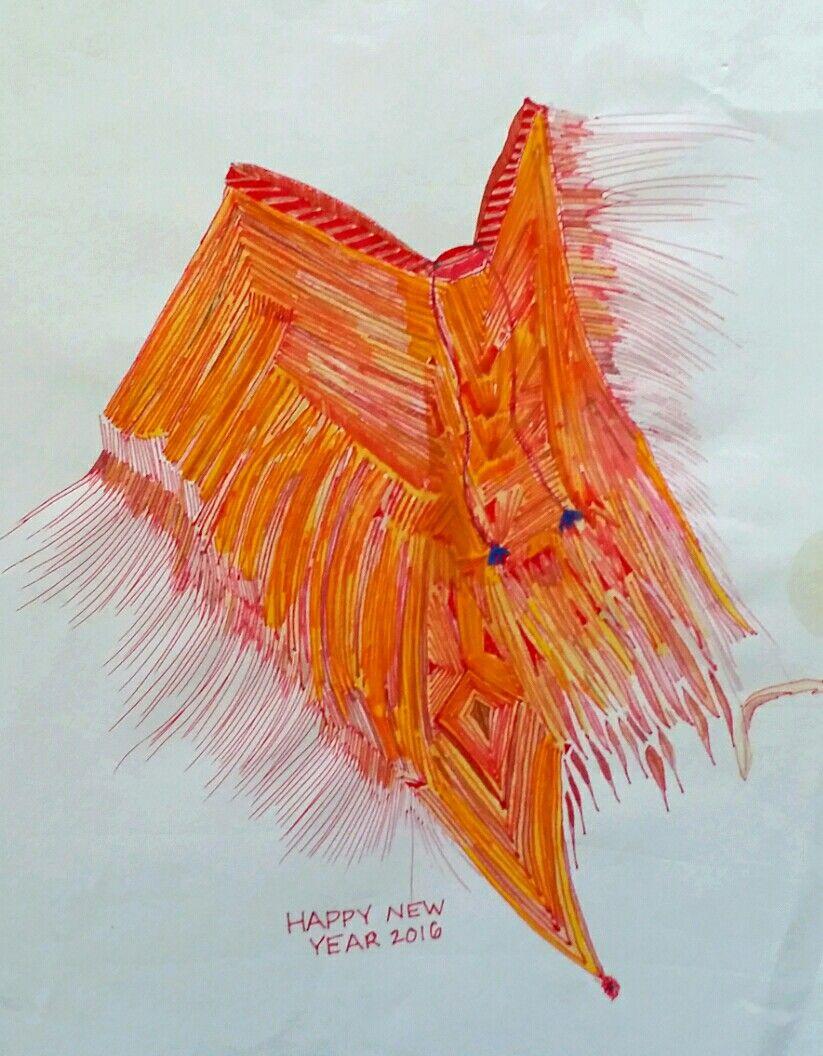 Orange poncho watercolor sketch art journal visual diary