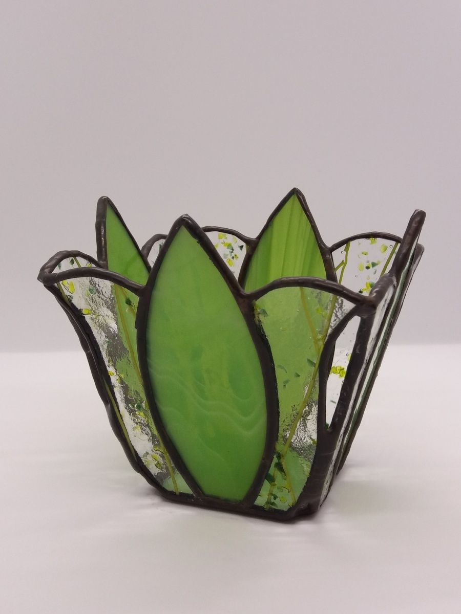 Photophore flamme | Stained Glass / Tiffany / Fused | Pinterest ...