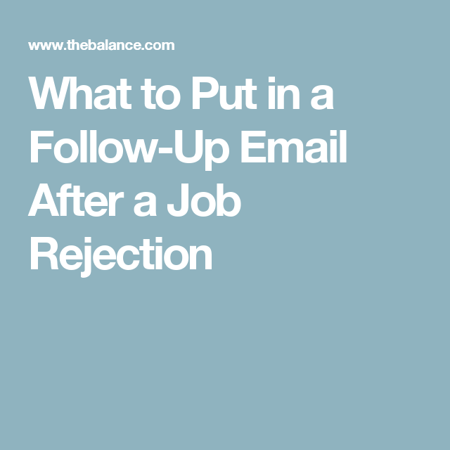 follow up email after rejection - Akba.greenw.co