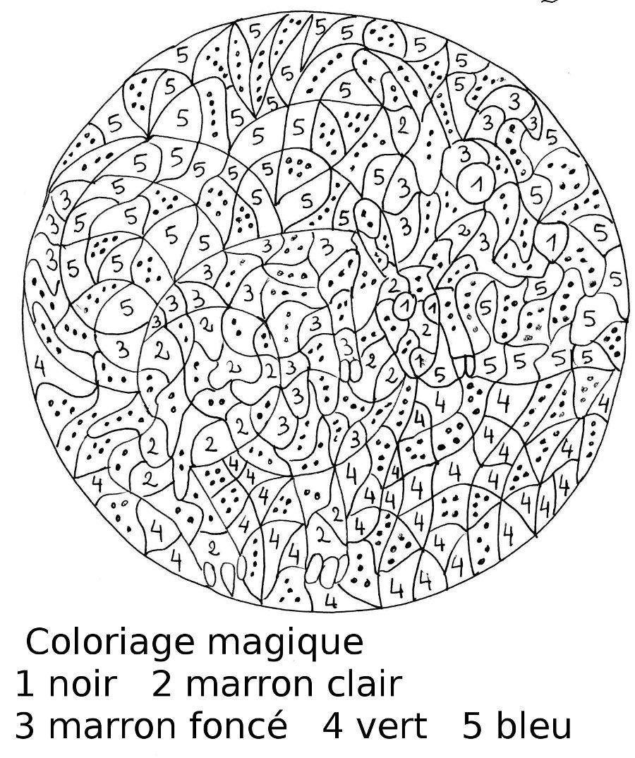 coloriage anti stress numéroté à imprimer