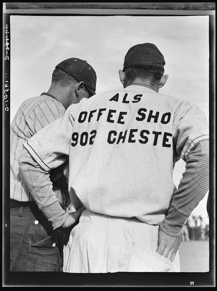Watching ball game. Shafter migrant camp. California June