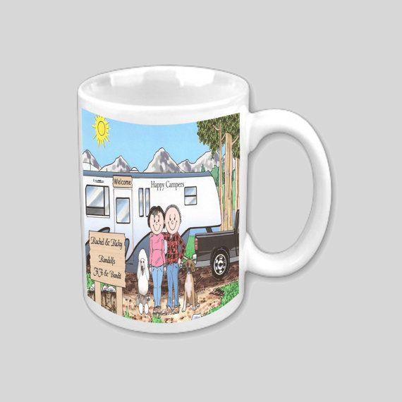 Personalized 11 oz Mug 5th Wheel Trailer by CartoonCityExpressio, $12.00