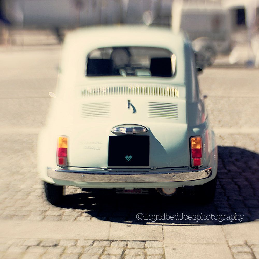 Fiat 500 car photography Fiat car print vintage car print baby blue Italian car retro car photography car wall art home decor fine art print home decor square photo Fiat 500 car vintage car retro car photo blue car print retro car print vintage style car Italian car car wall art car decor whimsical photo 25.00 USD #goriani