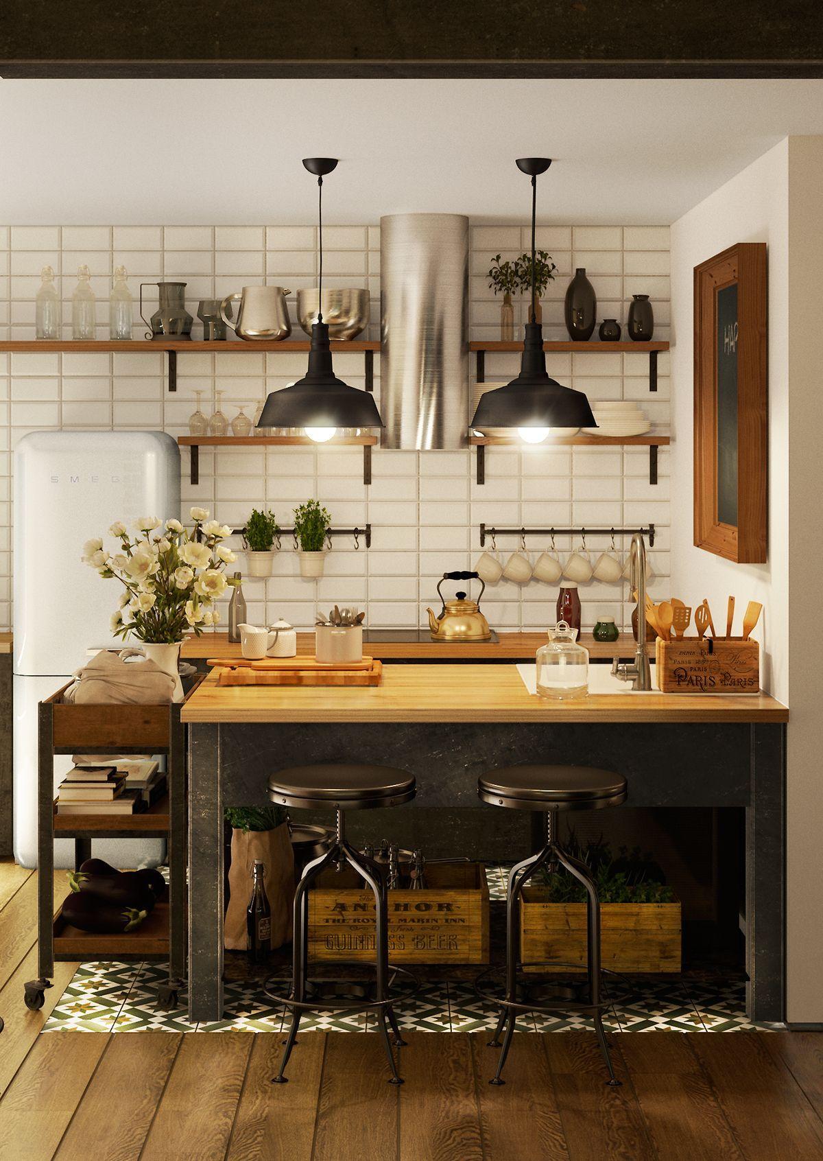 loft interior in 2020 | küche loft, wohnung küche