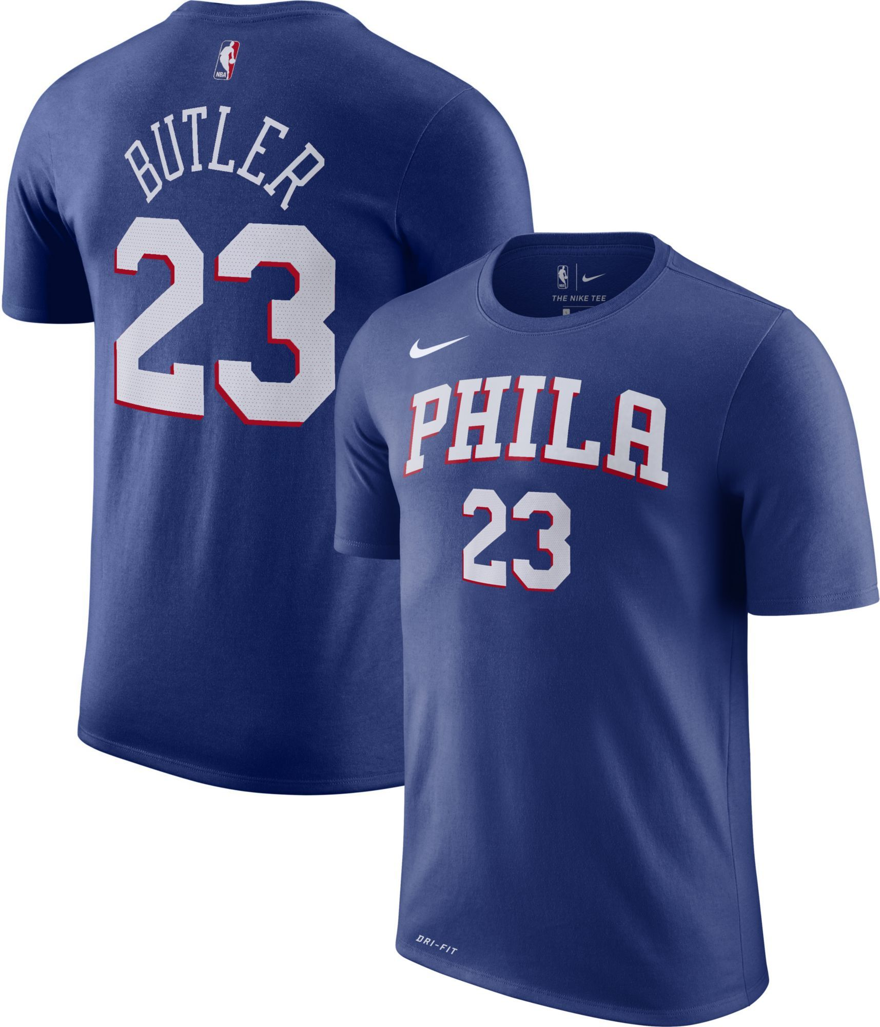 new arrival 033ad 0979b Nike Youth Philadelphia 76ers Jimmy Butler #23 Dri-FIT Royal ...