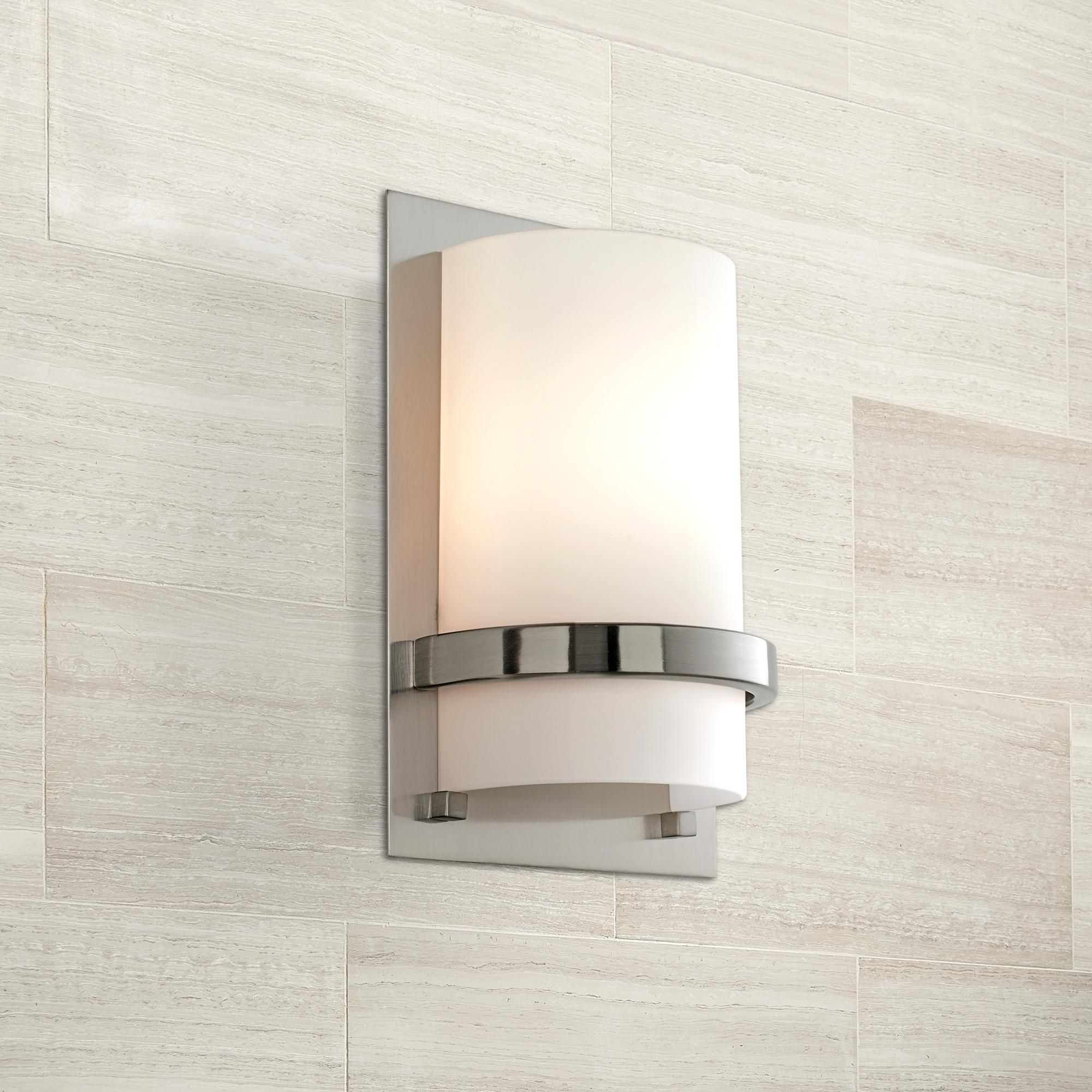 Inchh Brushed Nickel Wall Sconce