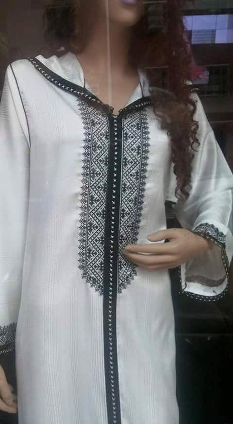 موديلات الجلابة المغربية بأحسن لون وهو اللون الأبيض Jalaba Moderne Moroccan Clothing Moroccan Fashion Best African Dresses