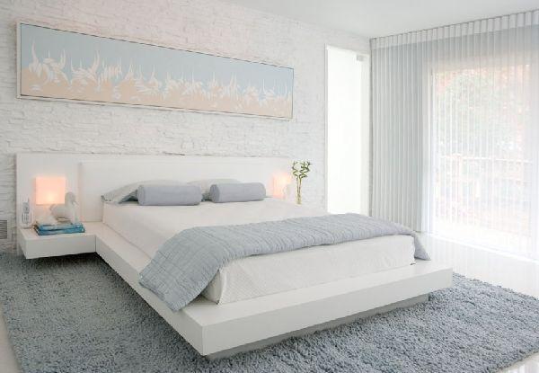 Photo Chambre A Coucher Parent De Luxe 184  Maison  Chambre À Simple White Bedroom Interior Design 2018