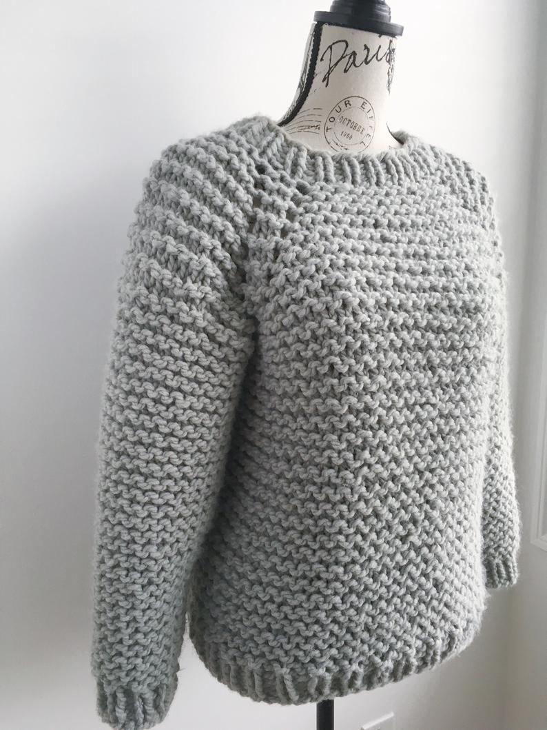 PATTERN ONLY *** My beginner raglan, chunky knit raglan ...