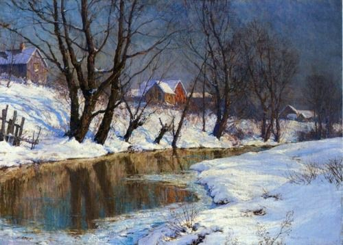 Walter Launt Palmer, Winter Morning. Oil on canvas