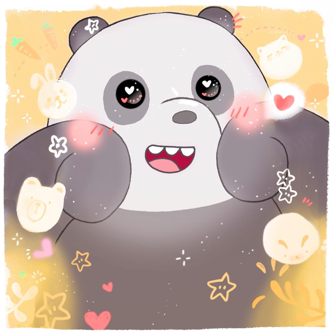 Pan Pan kawaii We bare bears, Bear wallpaper, Bare bears