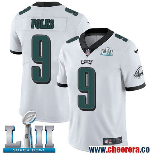 95375858655 Nike Eagles 9 Nick Foles White 2018 Super Bowl LII Vapor Untouchable Player Limited  Jersey