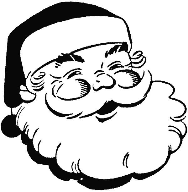 Face Santa Claus Smile Coloring Page : KidsyColoring ...