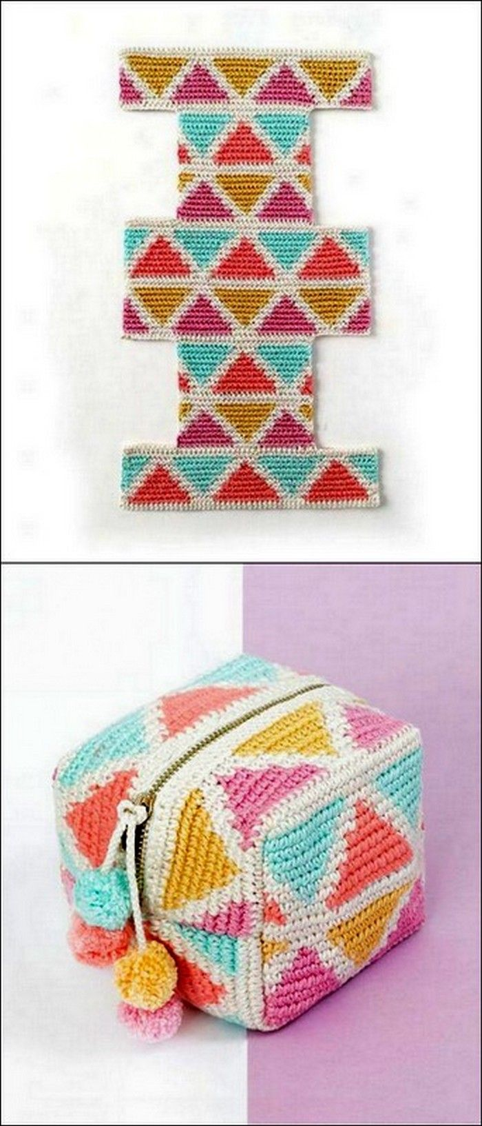 Colorful Crochet Bag Free Crochet Pattern #candles