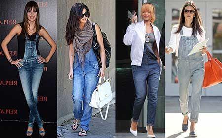 52c92e3bb1f353 Como Usar Macacão Jeans Curto, Longo, no Verão e Inverno   macacão ...