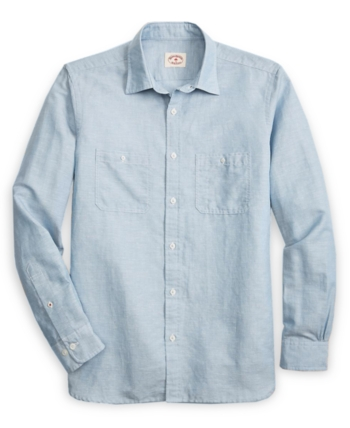 d4d5ee219f Brooks Brothers Red Fleece Men's Chambray Shirt - Blue M in 2019 ...