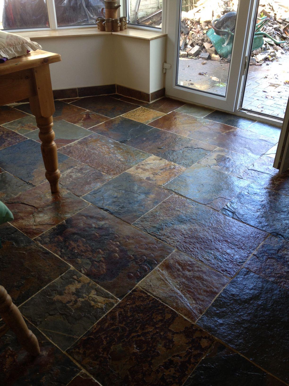rustic multicolour slate tiles