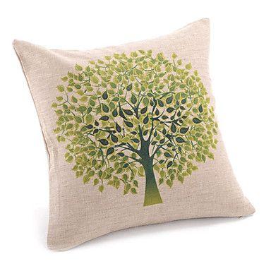 país árbol vivo funda de almohada decorativa