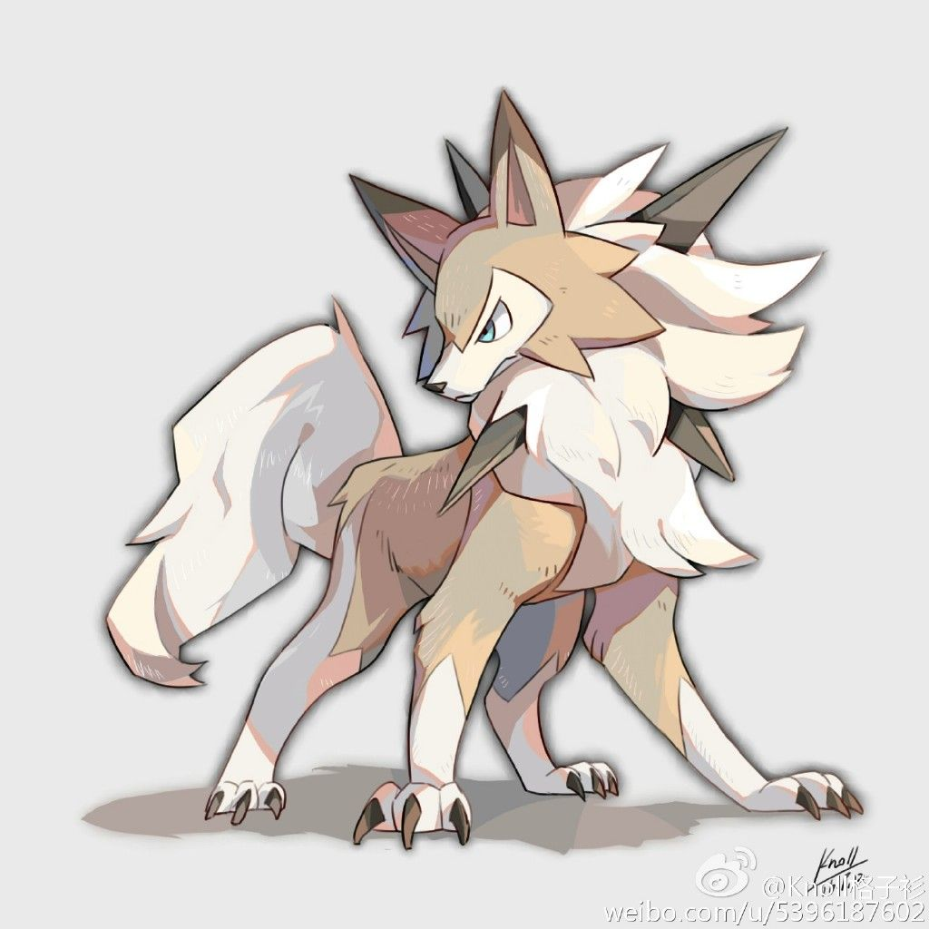 Lycanroc Drawing Pokémon Pokemon Sun Und Pokemon Go