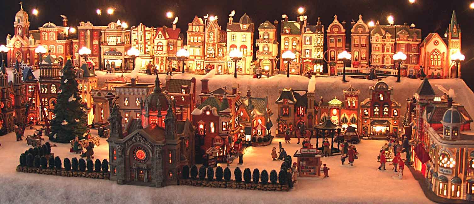 christmas village displays | Scroll to the right and see more ...