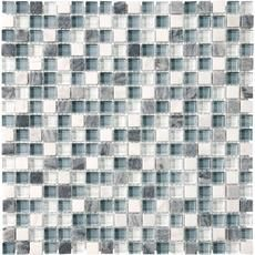 Waterfall Glass Stone Blend Mosaics - 5/8 Inches x 5/8 Inches: