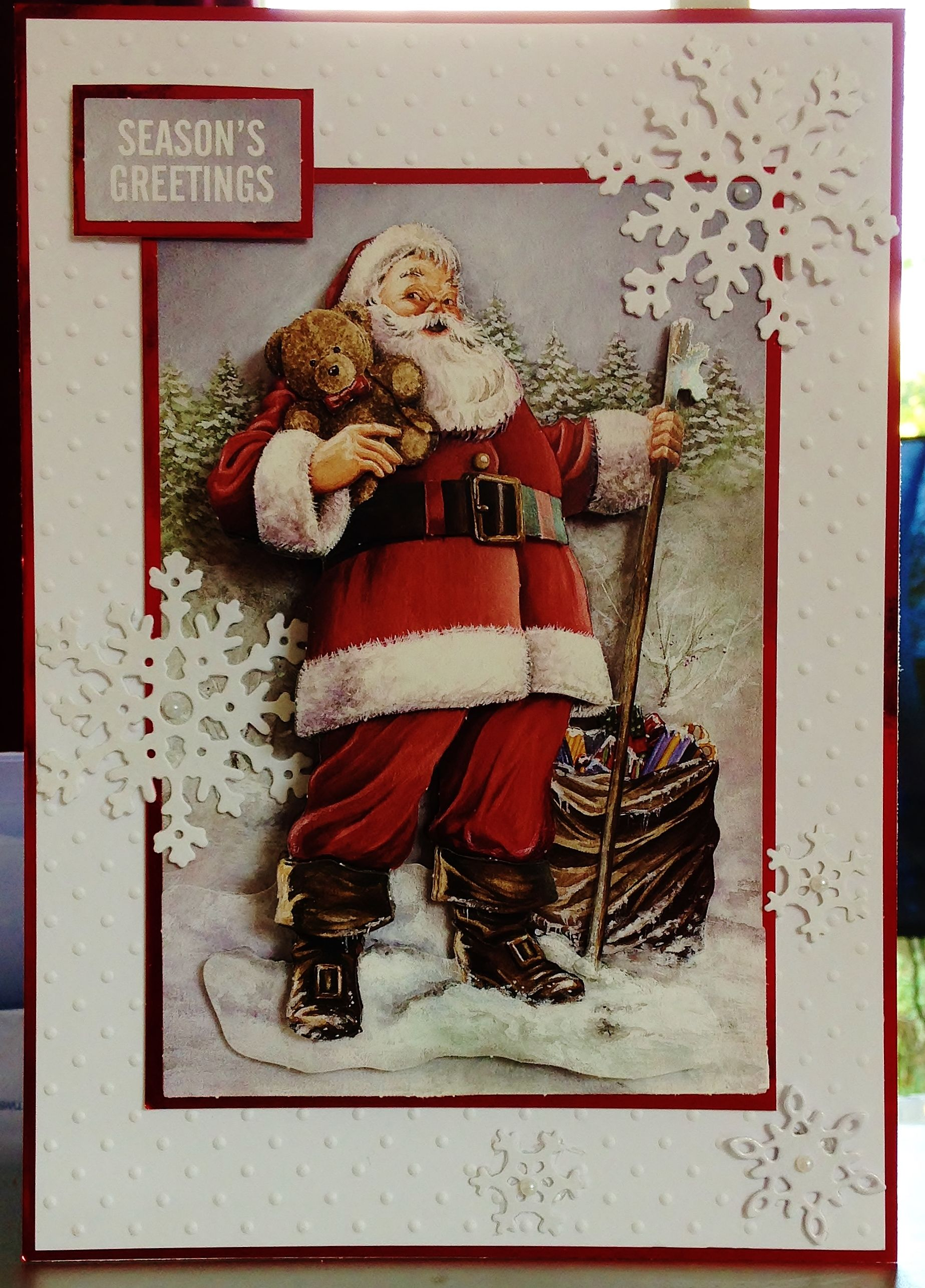 7) Christmas Card (A5) makings from Craft Creations Ltd (Decoupage ...