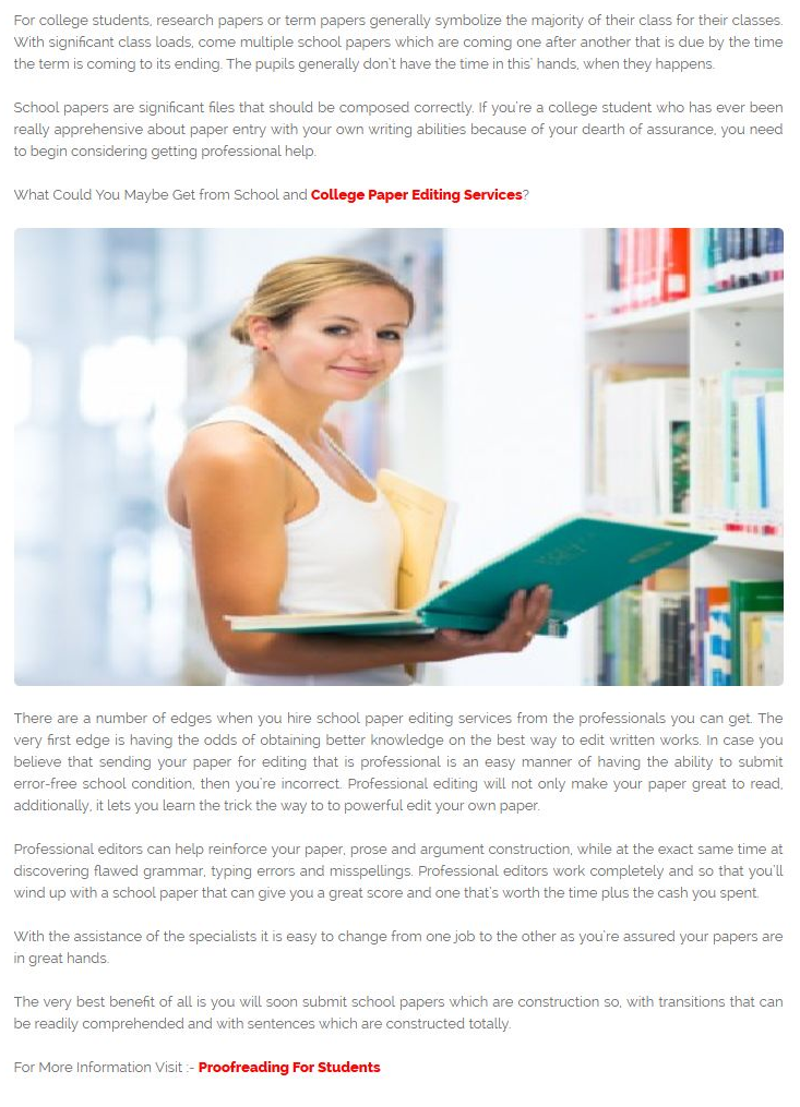 Custom paper proofreading site for college apa book report style