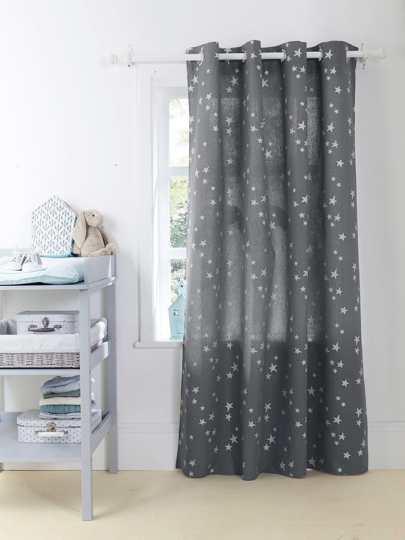 Rideau b¢chette étoiles imprimées Chambre et linge de lit