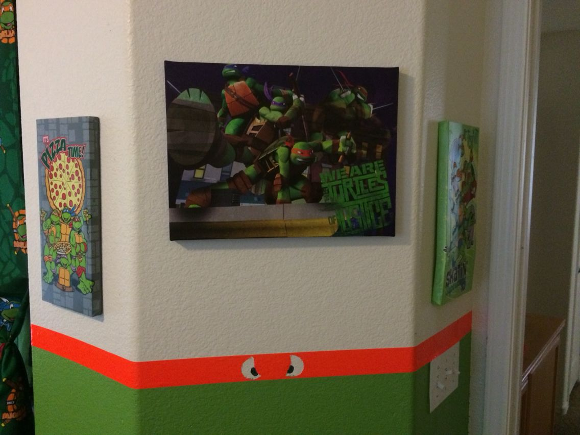 Teenage Mutant Ninja Turtles Bedroom | Ninja Turtles Room ...