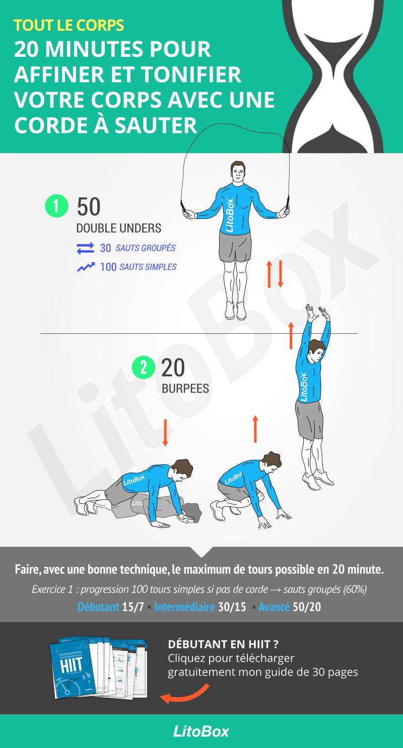 Corde à sauter   20 minutes pour affiner et tonifier votre corps ... eca3ee7623b