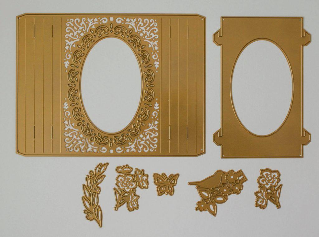 6x//set Oval Stencil Cutting Dies Scrapbooking Album-Stanzschablone w//