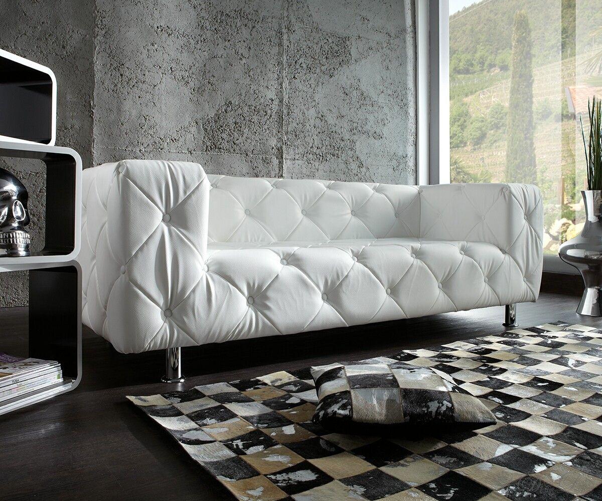 Weisses Sofa sofa chealsy 200x90 cm in weiss der traum einer designer