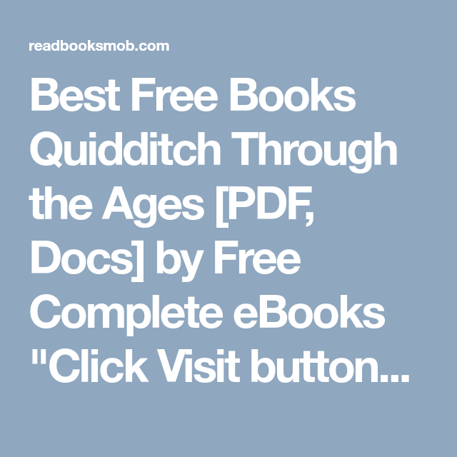 Quidditch Through The Ages Pdf