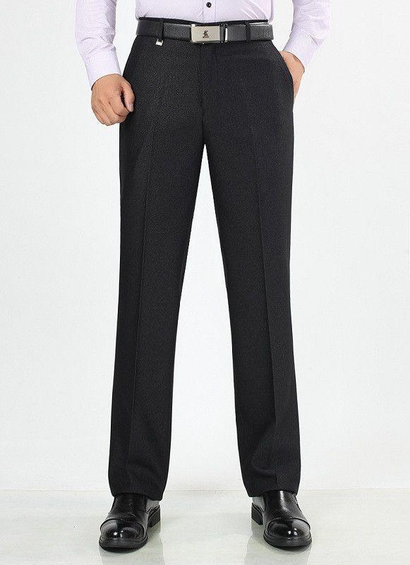 Autumn Winter Men Suit Pants Mens Silk Trousers Business Mens Pant