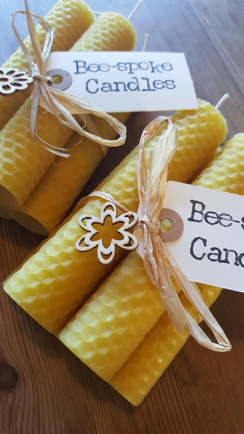 5 100 Pure Natural Beeswax Candles Handmade perfect