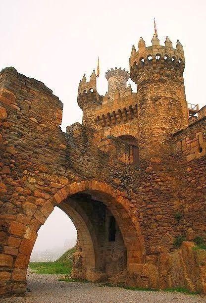 The Ponferrada Castle in Spain.