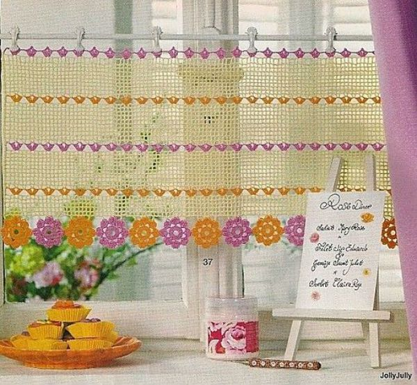14 Cute Kitchen Curtains Crochet Curtains Pinterest Kitchen Curtains Kitchens And Crochet