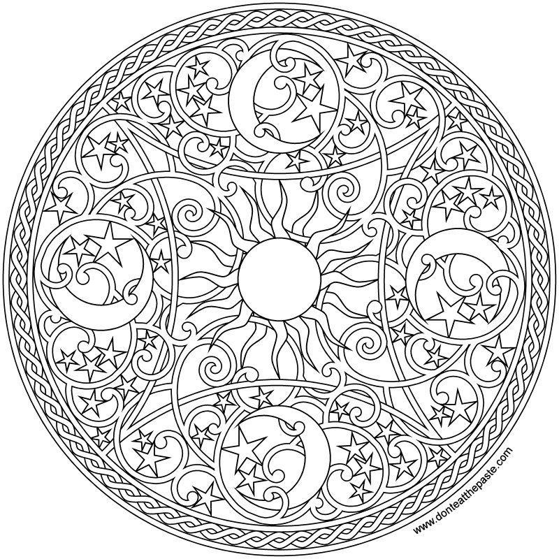 Celestial Mandala 2016 Mandala Coloring Pages Mandala Coloring Books Mandala Coloring