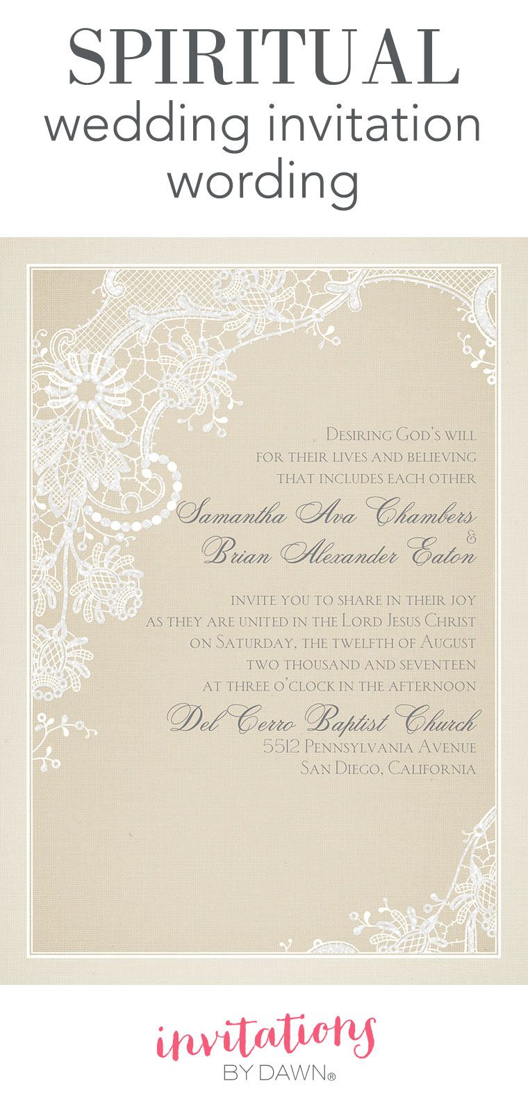 Spiritual Wedding Invitation Wording Wedding Invitations Examples Sample Wedding Invitation Wording Christian Wedding Invitation Wording