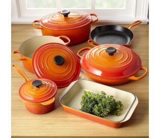 Shop Le Creuset Enameled Cast Iron Cookware Set, 10 Pieces at CHEFS.
