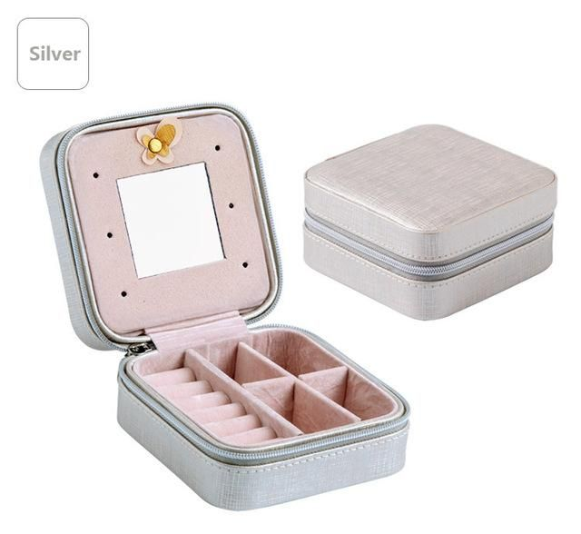 Mini Travel jewelry box cosmetic makeup organizer packaging Boxes
