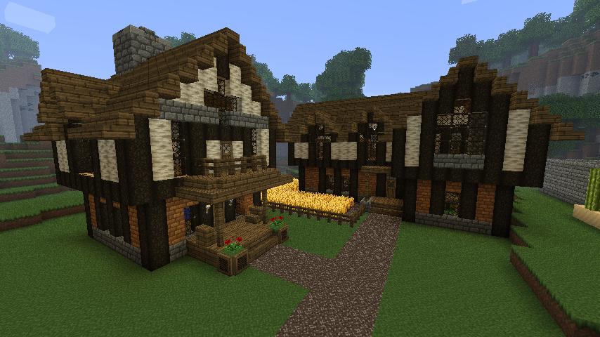 Cozy Medieval House And Inn Minecraft Farm House Minecraft Medieval Minecraft House Designs