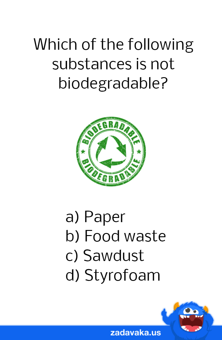 What is NOT biodegradable? Trivia quizzes, Geography