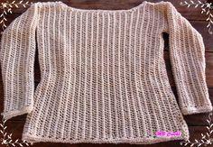 Boa tarde a todos, Hoje eu trouxe mais uma peça em tricô. Adorei faze-la. Fiz inspirada na blusa...