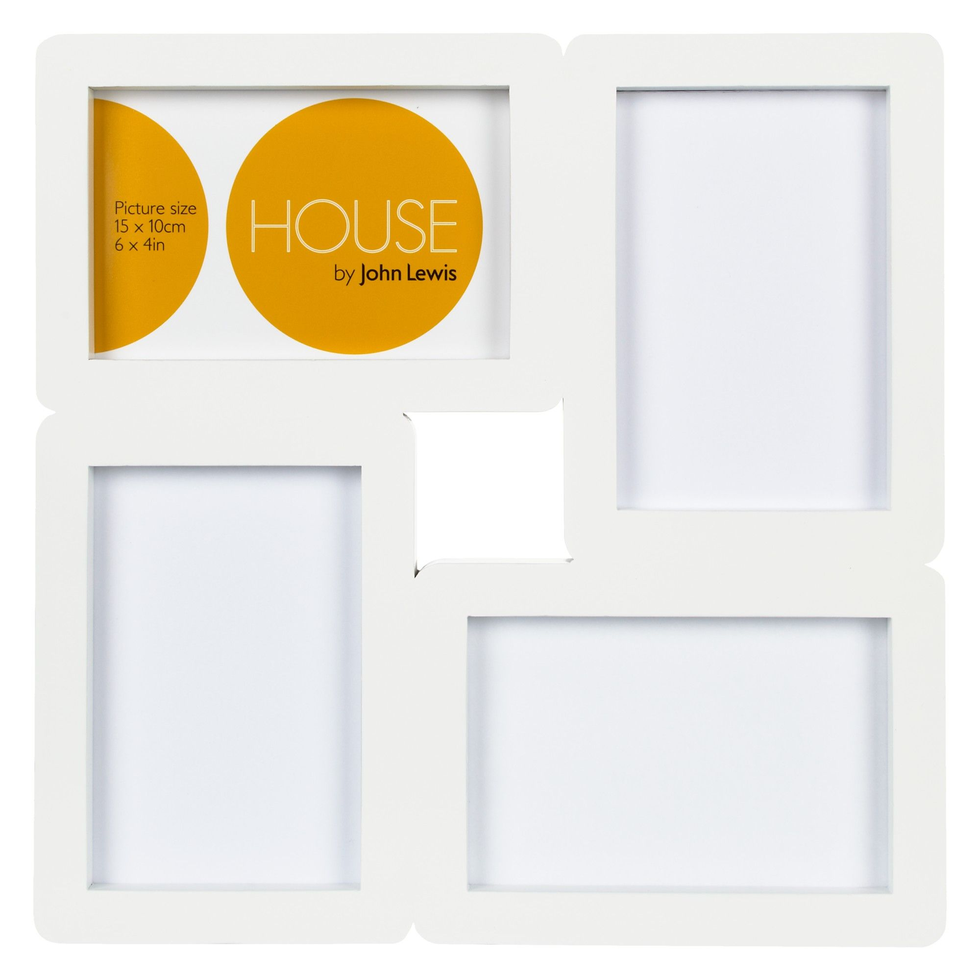 House By John Lewis 4 Photo Aperture Frame 4 X 6 10 X 15cm White Aperture Frames Frame Aperture Photo